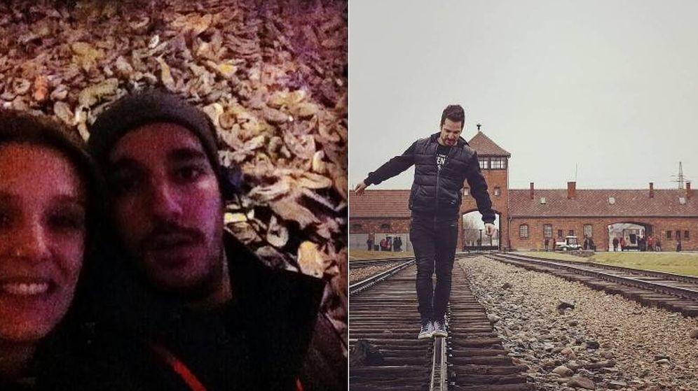 Foto: Imágenes compartidas por @AuschwitzMuseum para denunciar los comportamientos de los turistas.
