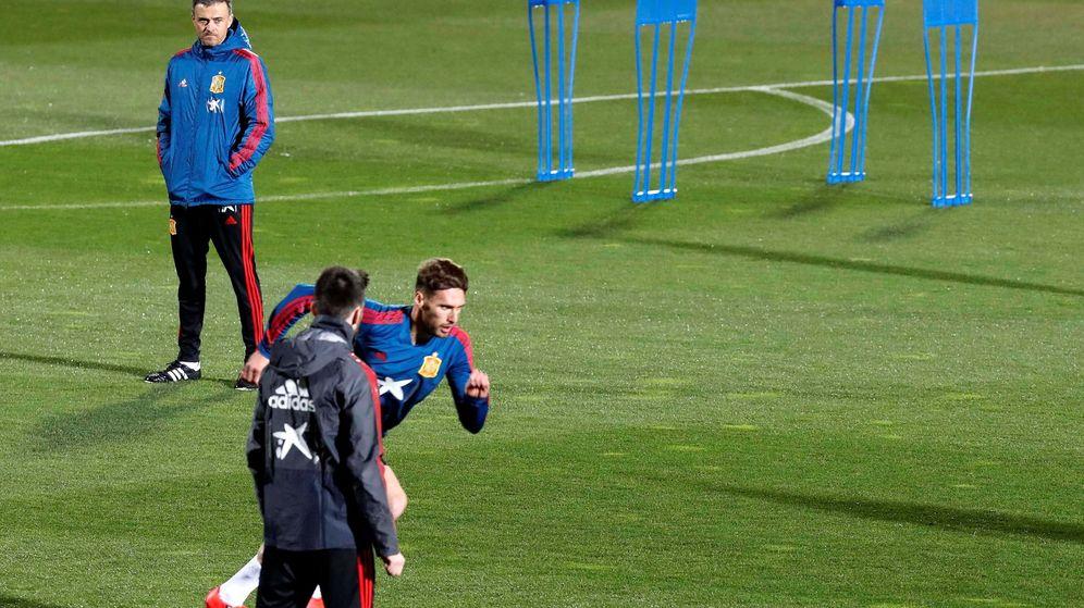 Foto: Luis Enrique. en un entrenamiento de Selección española en marzo. (EFE)