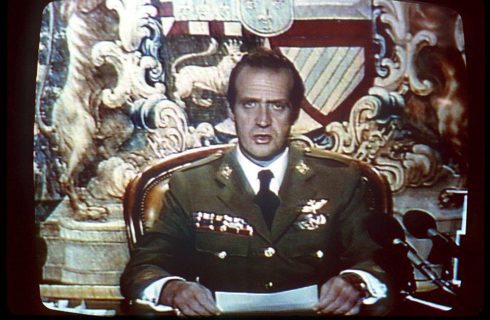 Foto: Discurso de Juan Carlos I durante su mensaje tras el golpe de Estado del 23-F. (EFE)