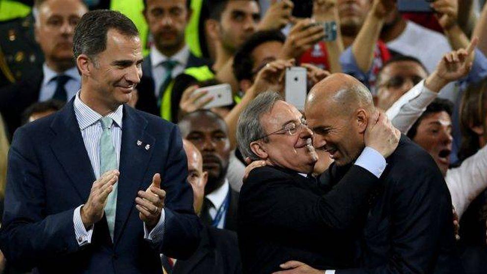 Y Florentino se abrazó a Zidane, su salvavidas para evitar otro año en blanco