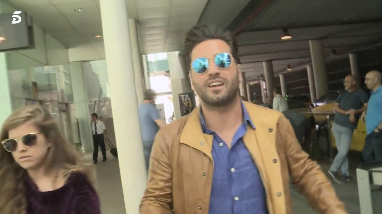 David Bustamante, a su llegada a Barcelona.