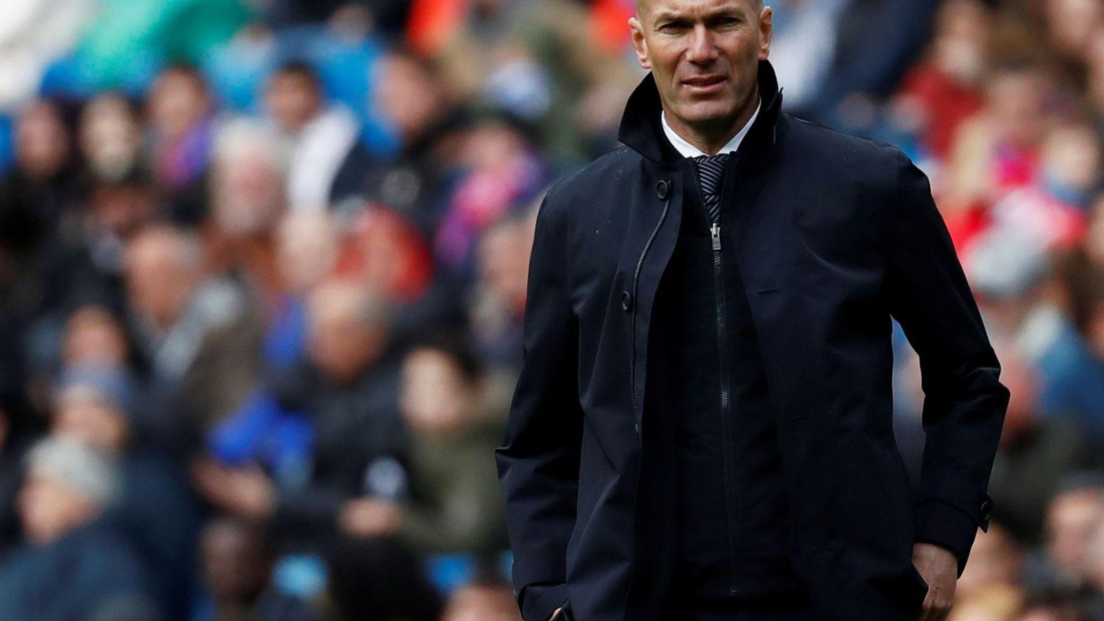 Foto: Zidane en el Real Madrid-Eibar de este sábado. (Reuters)