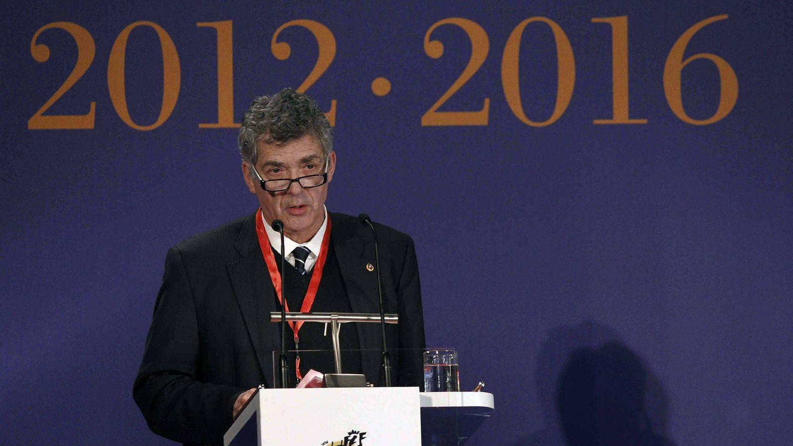 Foto: Ángel María Villar, presidente de la Federación de Fútbol Española (Efe)