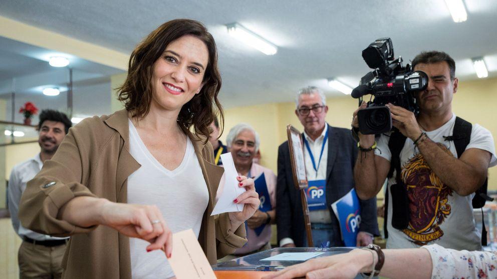 Elecciones municipales 2019: Díaz Ayuso acude a votar con mucha energía y anima a dar un paso adelante en las urnas
