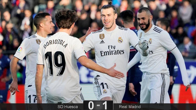 Foto: Bale fue el autor del gol del Real Madrid en Huesca. (Reuters)