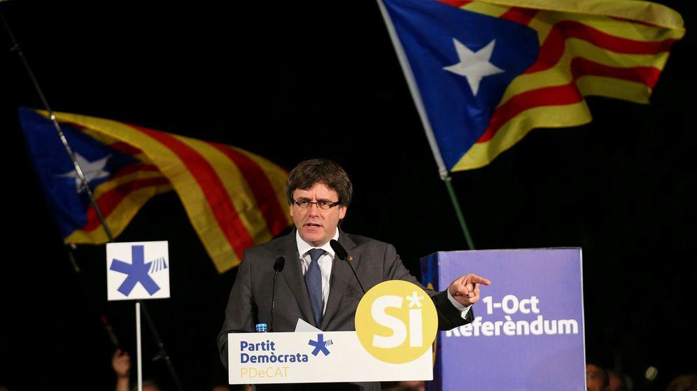 Foto: Carles Puigdemont durante un acto a favor del referéndum. (Reuters)
