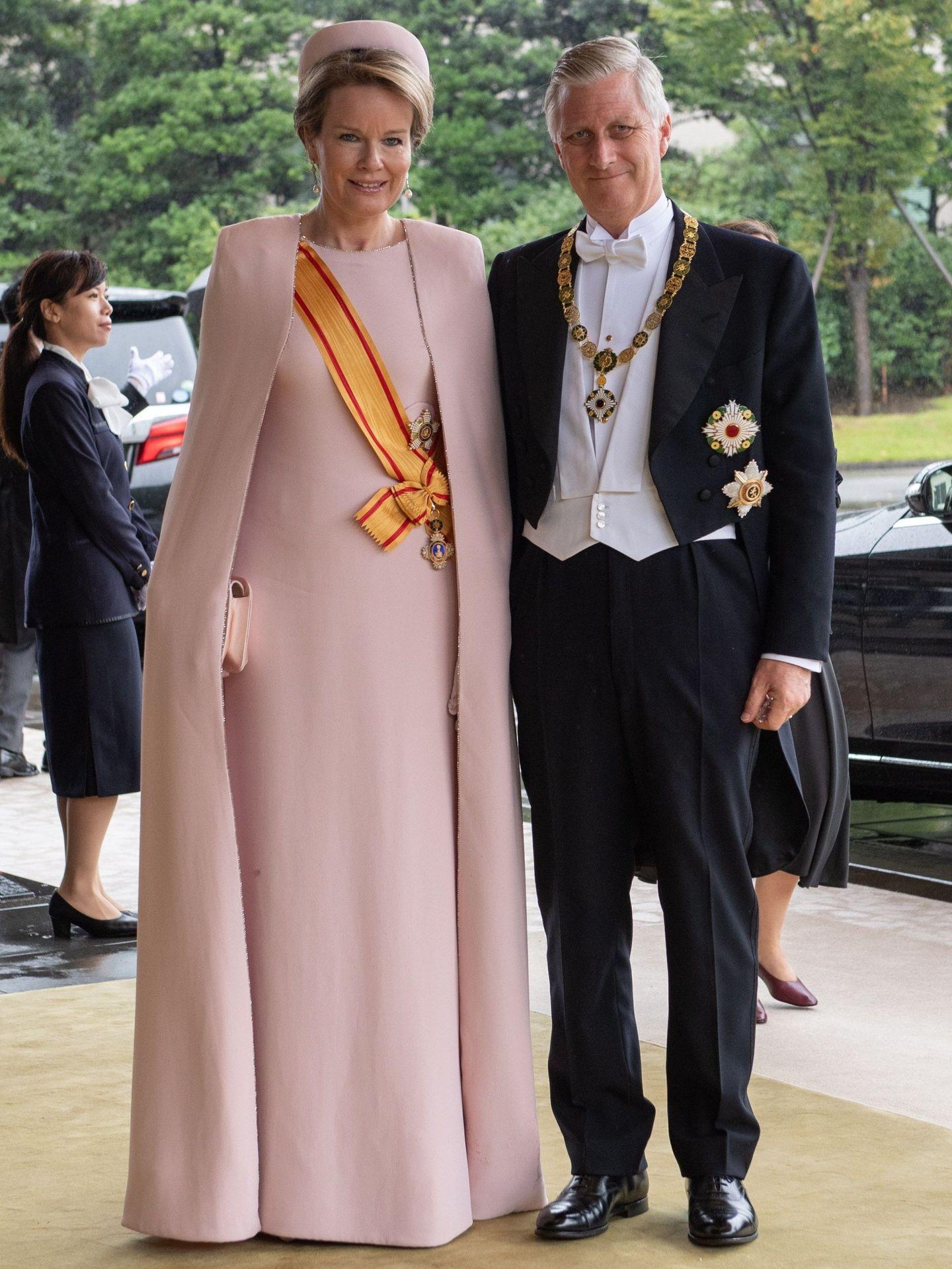 Los reyes de los belgas, en Japón. (EFE)