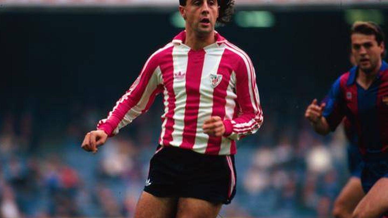 Lorenzo Juarros, durante su etapa como jugador del Athletic Club