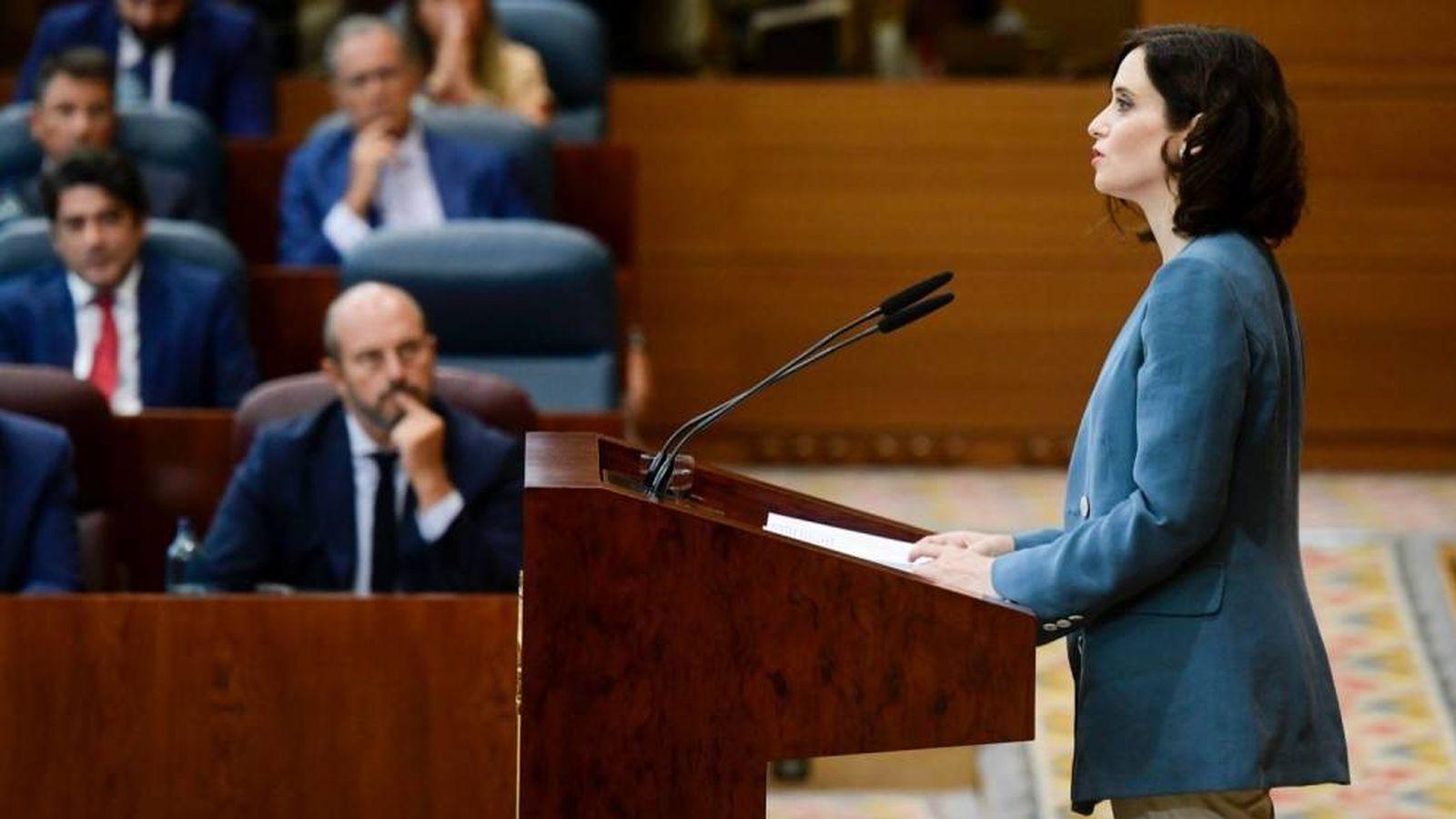 Foto: La popular Isabel Díaz Ayuso, durante su discurso. (EFE)