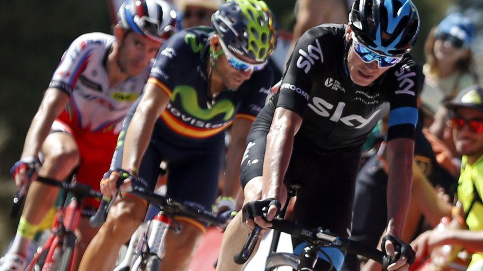 Froome se presenta en la Vuelta y saca 6 segundos a Valverde en un final loco