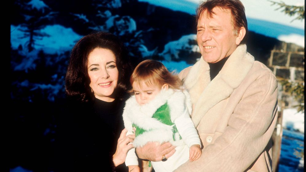 Foto: Elizabeth Taylor y Richard Burton en Gstaad. (Getty)