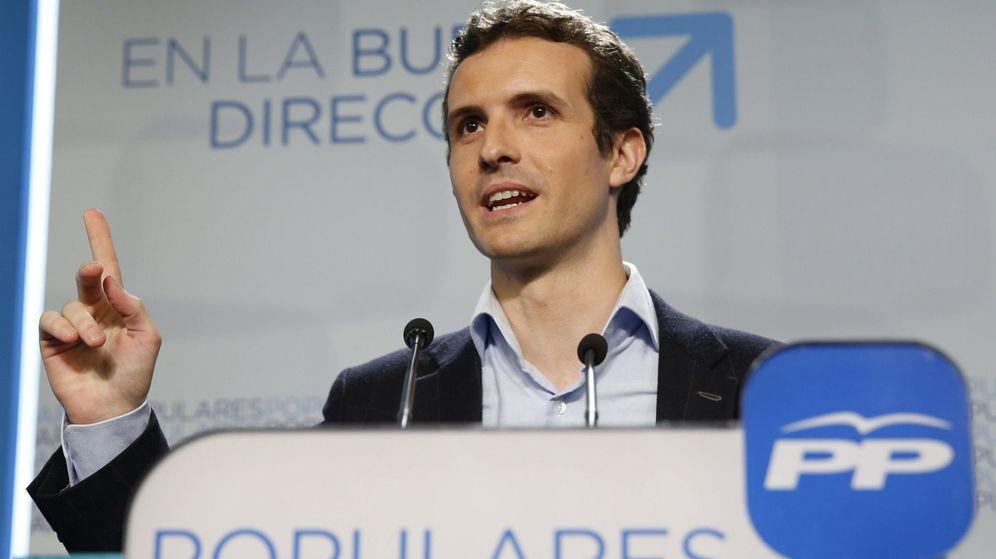 Foto: Pablo Casado, la joven apuesta del PP: un rostro fajado en las tertulias de la televisión