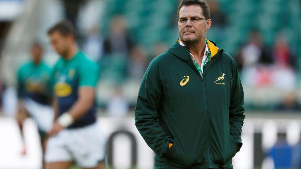 Foto: Rassie Erasmus, entrenador de Sudáfrica. (Reuters)