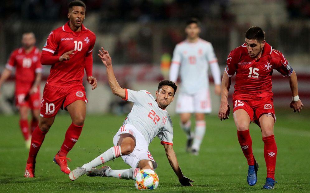 Foto: Momento del partido de España-Malta. (EFE)