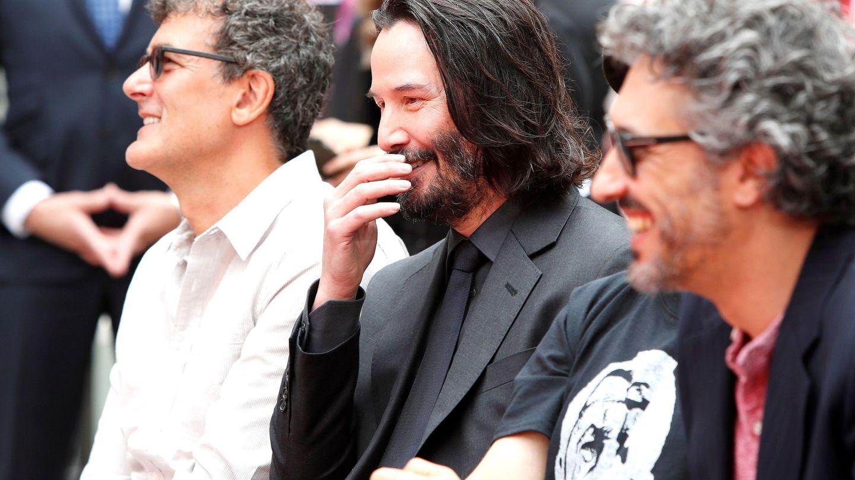 El actor canadiense Keanu Reeves, en el Teatro Chino de Hollywood. (EFE)