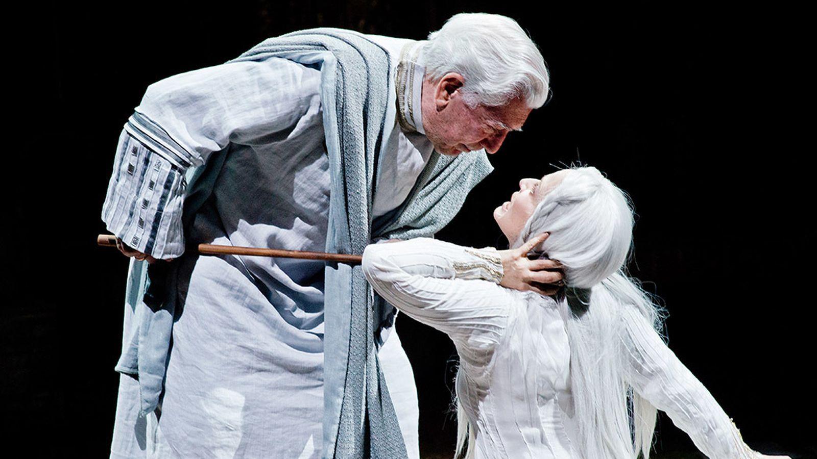 Foto: Mario Vargas Llosa y Aitana Sánchez-Gijón protagonizaron 'Los cuentos de la peste'.