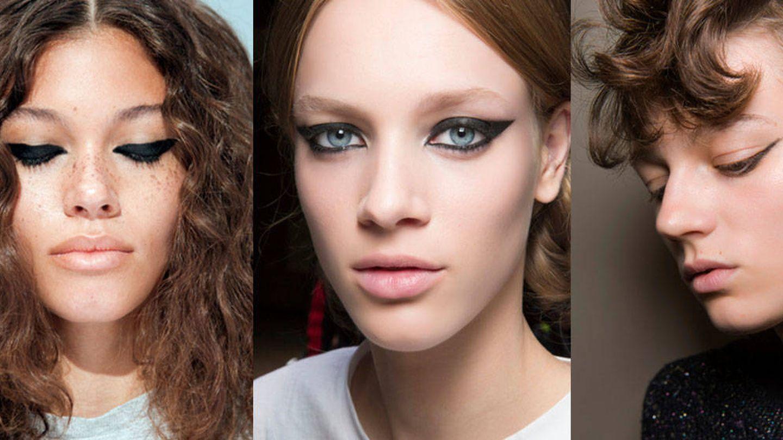Visto en las pasarelas: eyeliner total black.