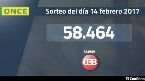 Resultados de la ONCE del 14 febrero 2017: el número 58.464, premiado