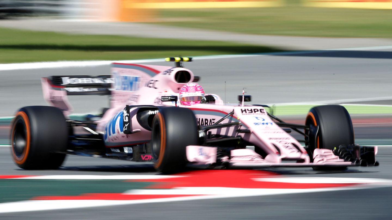 Ocon, con el Force India en el Circuit de Barcelona-Catalunya. (Reuters)