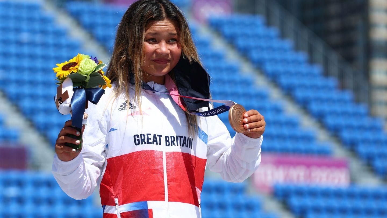 Sky Brown ganó el bronce en Tokio 2020. (Reuters)