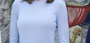 Post de 'Sweet Letizia': repite su look más dulce para luchar por el 'equilibrio de género'