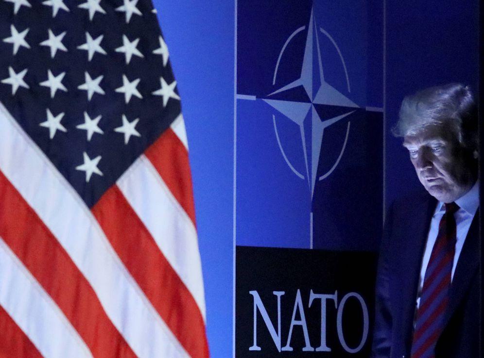 Foto: Donald Trump a su llegada a una conferencia en la cumbre de la OTAN en Bruselas, en julio de 2018. (Reuters)