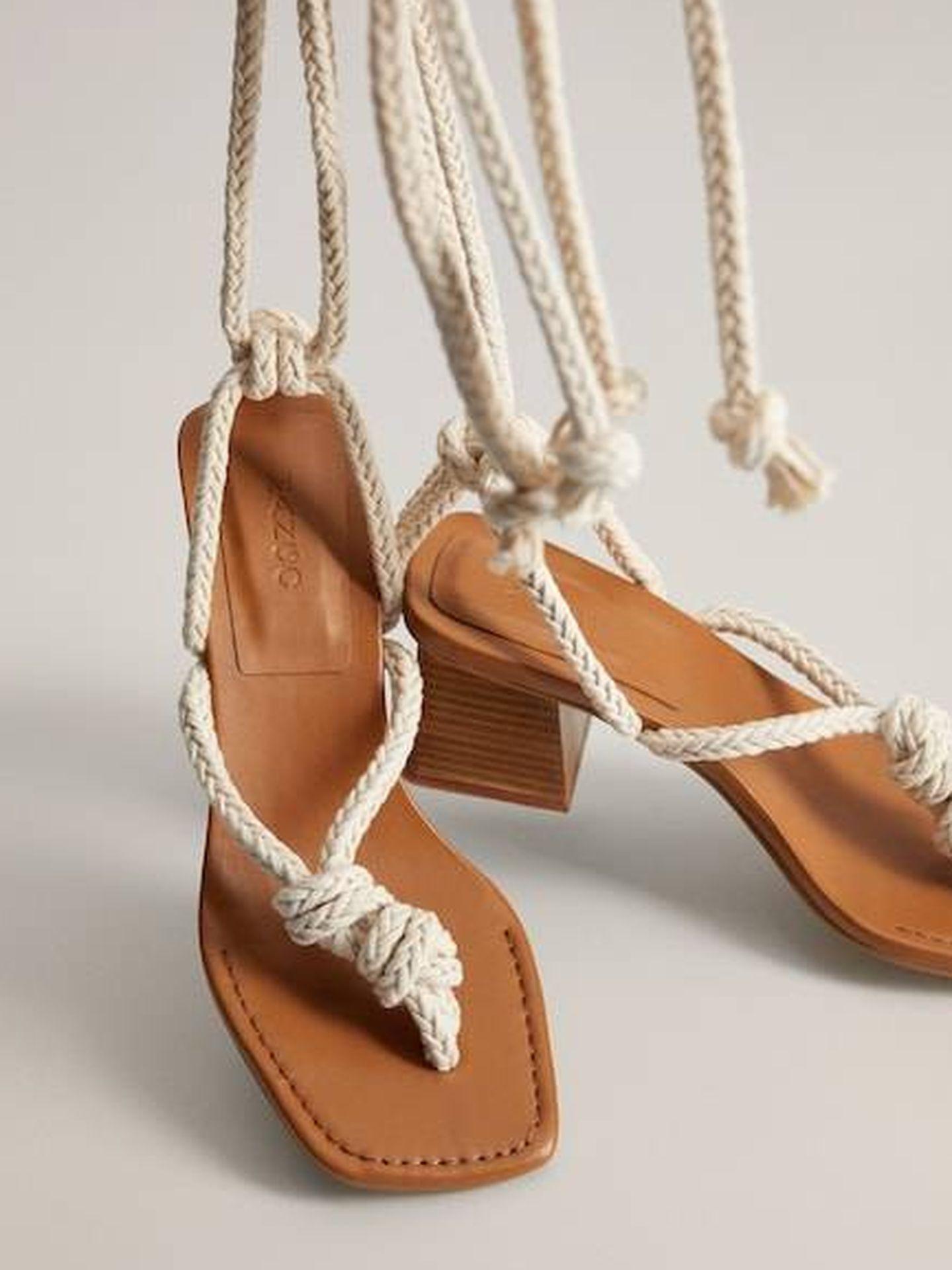 Las nuevas sandalias de Mango. (Cortesía)