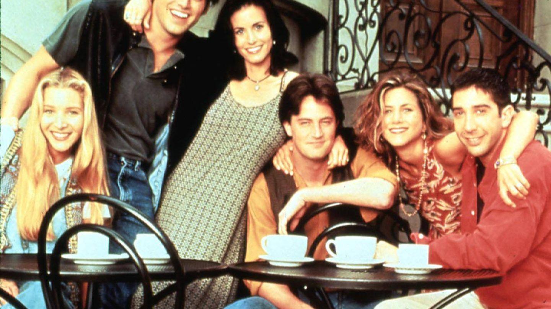 Lisa Kudrow, Matt LeBlanc, Courteney Cox, Matthew Perry, Jennifer Aniston, David Schwimmer.(Cordon)