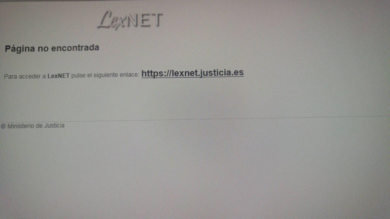 La plataforma Lexnet, caída de nuevo. (@Lexnetenfurecido)