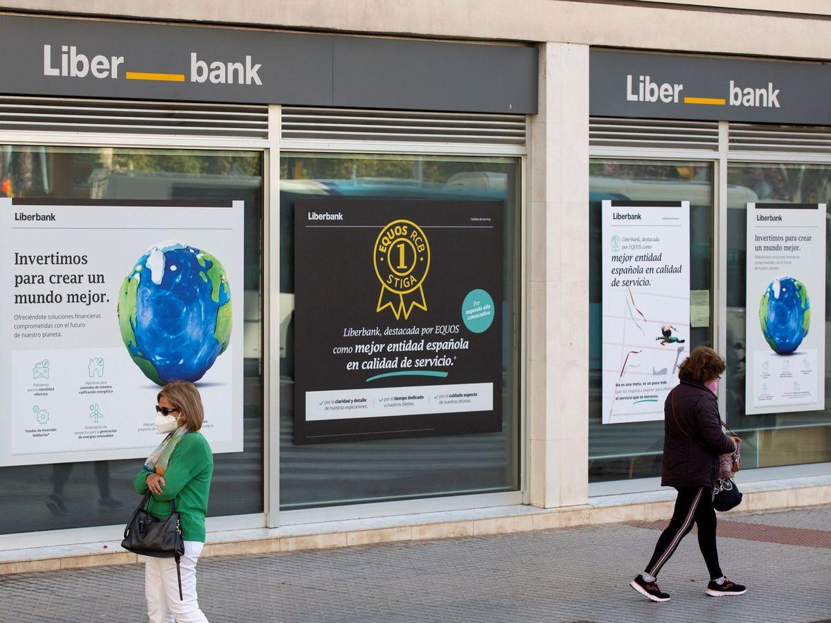 Foto: una banca a Liberban.  (EFE)