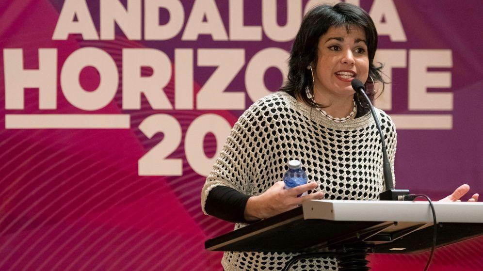 Foto: La coordinadora de Podemos Andalucía y portavoz de Adelante Andalucía, Teresa Rodríguez. (EFE)