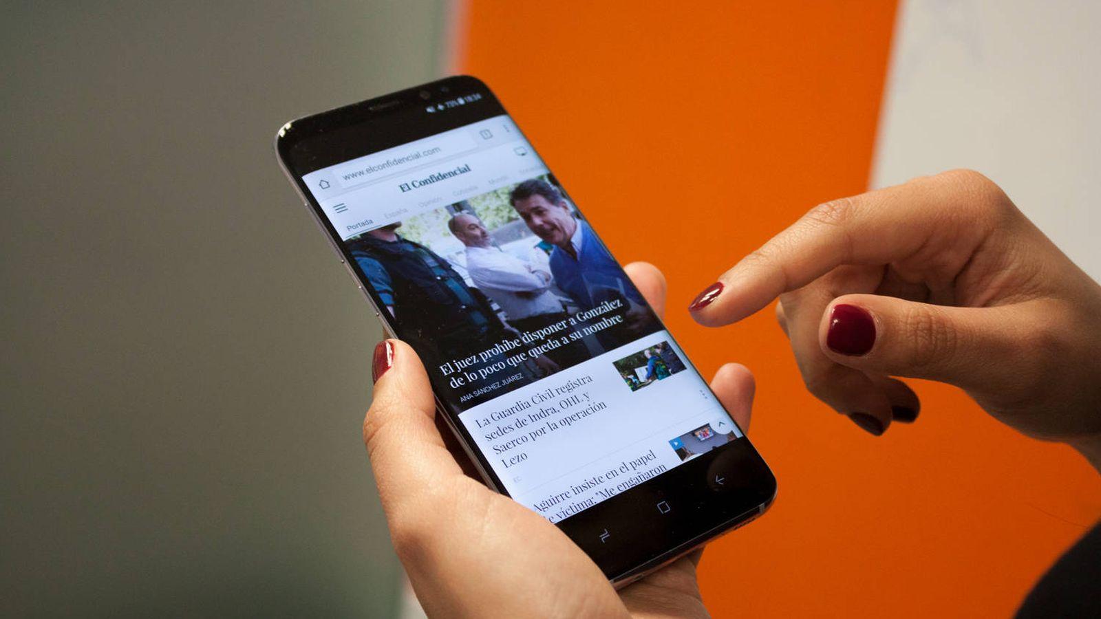 Foto: Samsung Galaxy S8. (Enrique Villarino)
