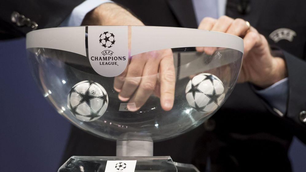 Foto: Imagen de un sorteo de Champions en Nyon. (EFE)