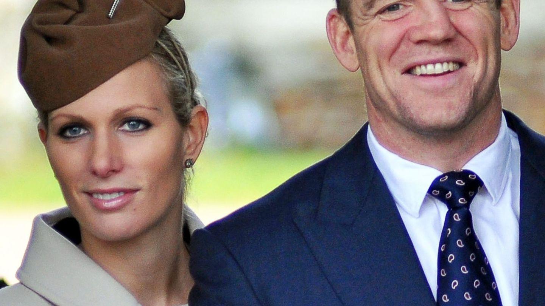 Zara Phillips y su marido el exjugador de rugby Mike Tindall. (EFE)