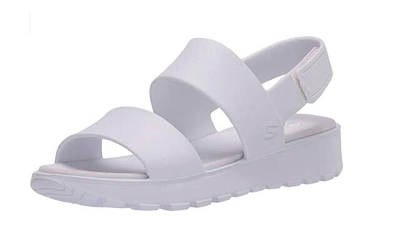 Sandalias Skechers Footsteps-Breezy Feels, sandalias de talón abierto para mujer