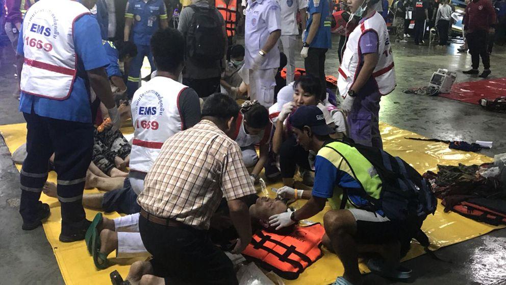 Al menos 33 muertos y 23 desaparecidos en dos naufragios en Tailandia