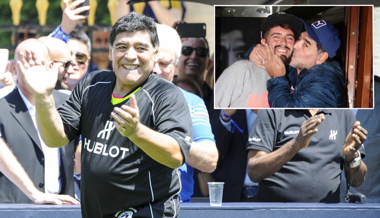 Foto: Maradona con su hijo