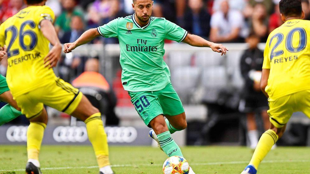 Foto: Eden Hazard fue titular en los dos partidos del Real Madrid en la Audi Cup de Múnich. (EFE)