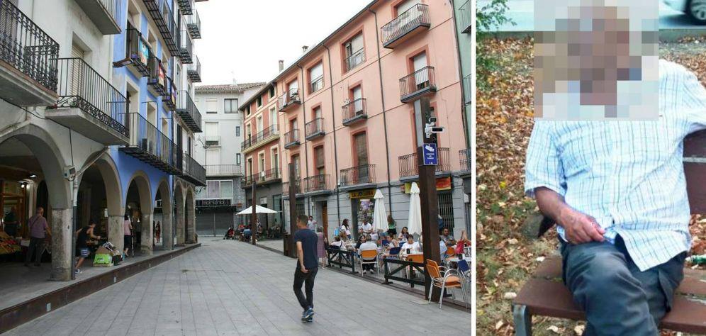 Foto: Un calle de Ripoll (i) y el padre los dos terroristas. (R. Méndez)
