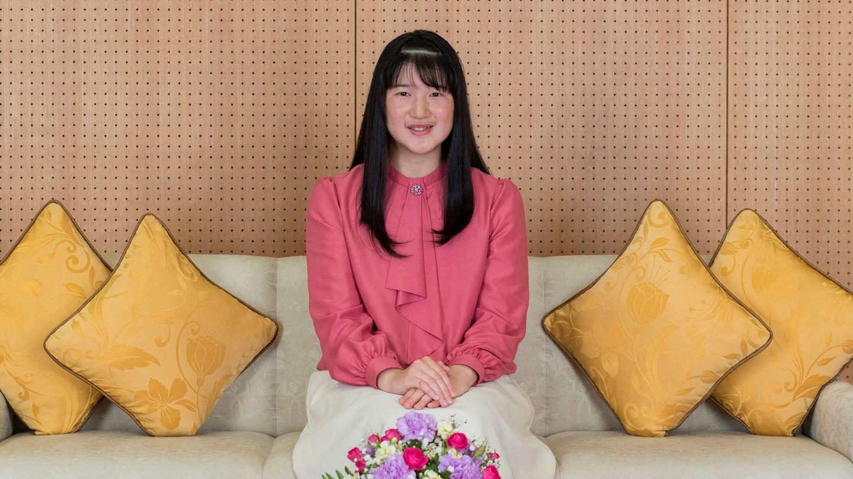 La princesa Aiko, posando por su 18º cumpleaños. (Reuters)