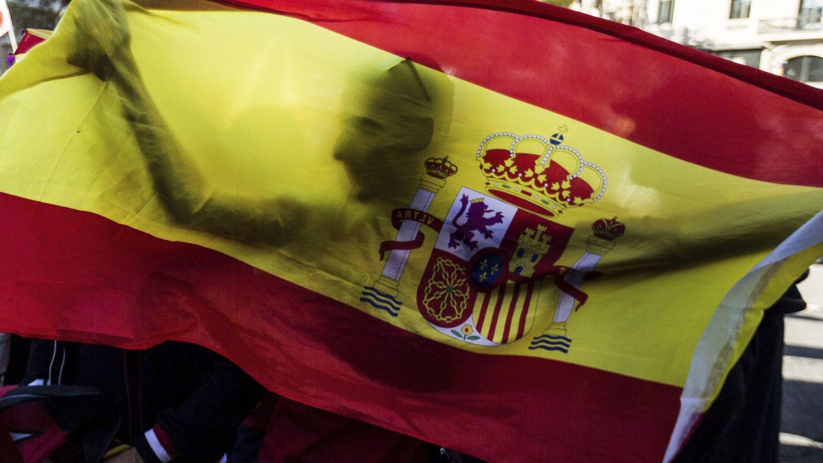 """Foto: Manifestación bajo el lema """"todos somos Cataluña"""". (EFE)"""