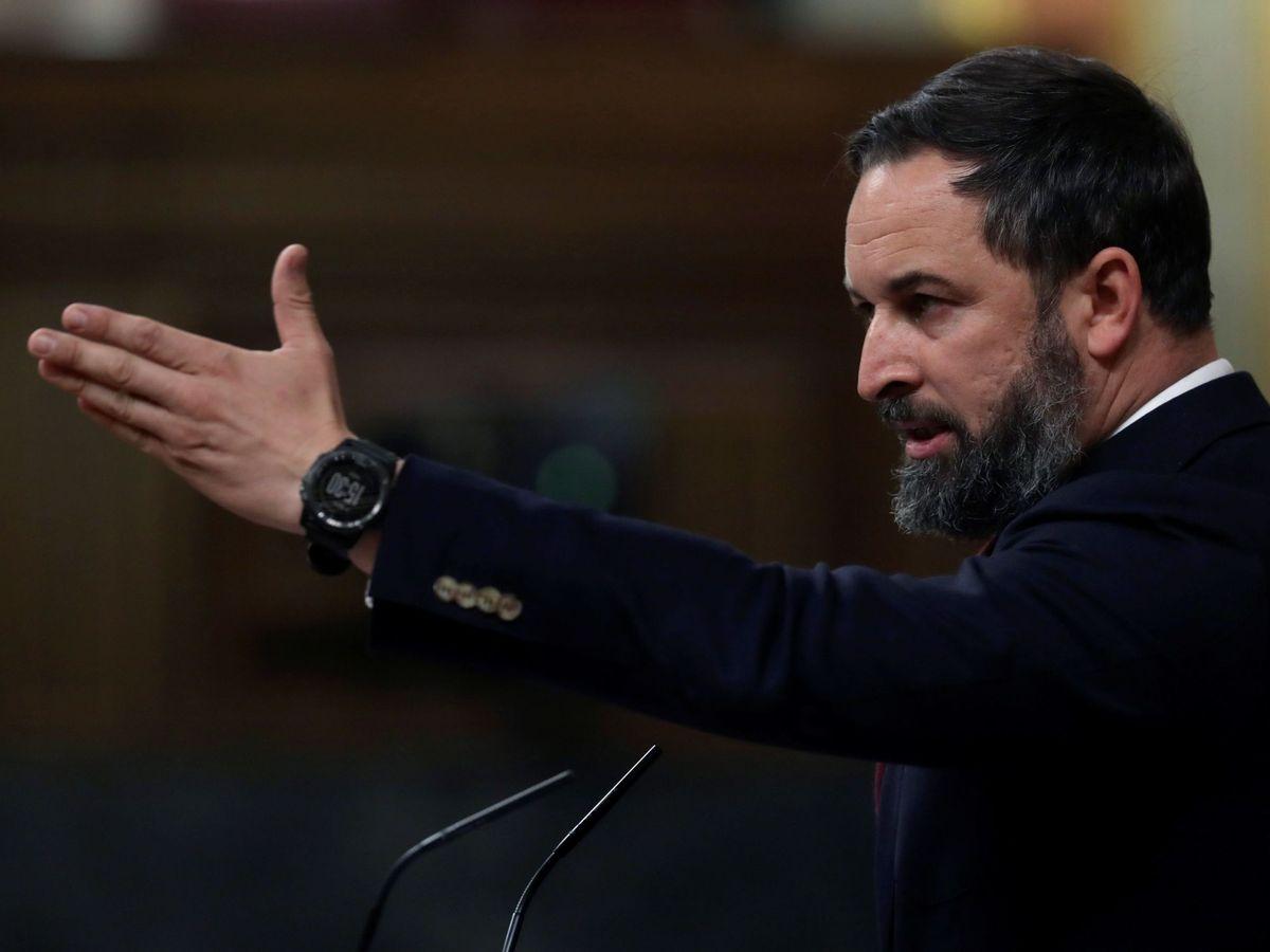 Foto: El presidente del Vox, Santiago Abascal. (EFE)