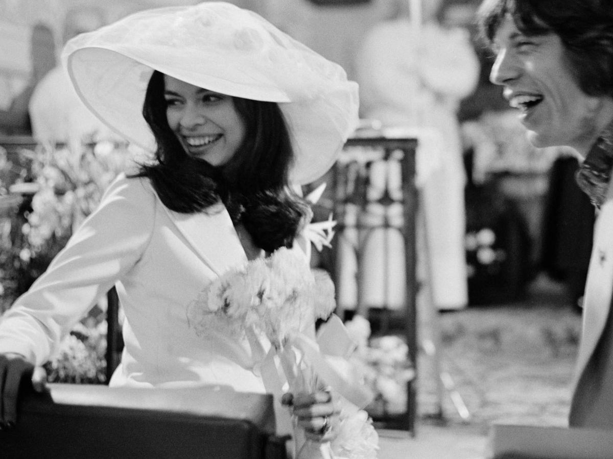 Foto: Bianca y Mick Jagger, durante su boda en 1971. (Getty)