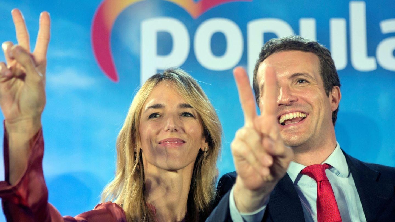 El candidato del PP a la Moncloa, Pablo Casado, y la cabeza de lista al Congreso por Barcelona, Cayetana Álvarez de Toledo. (EFE)