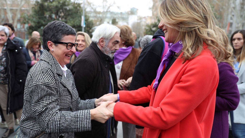 Begoña Gómez y Arancha González Laya, en la manifestación por el Día de la Mujer. (EFE)