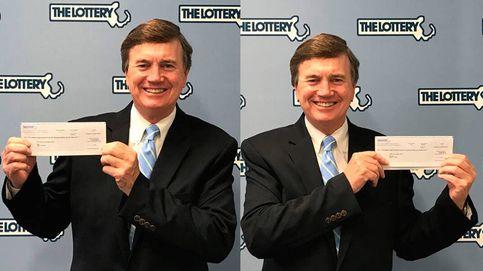 El hombre que aparece siempre en las fotos de ganador de la lotería