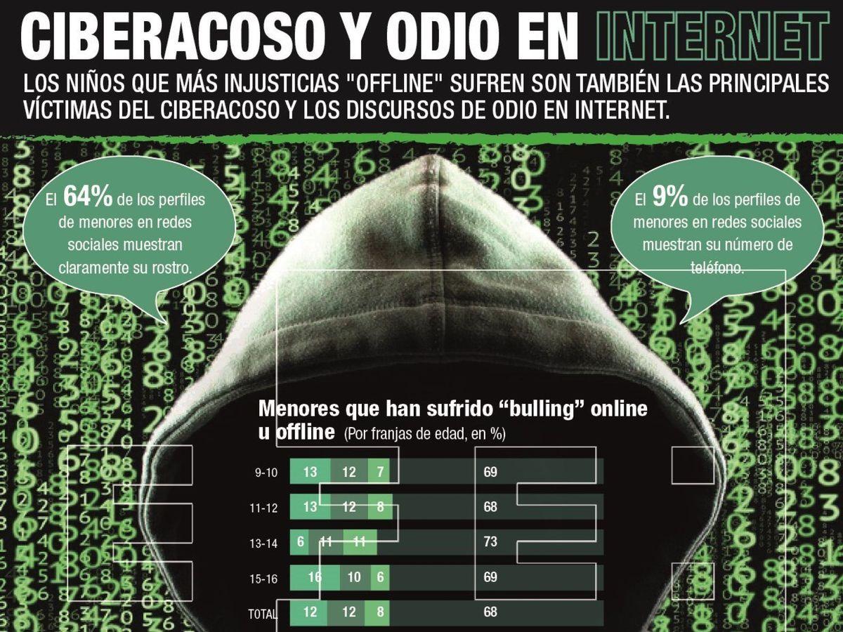Foto: Ciberacoso y odio en internet. (EFE)