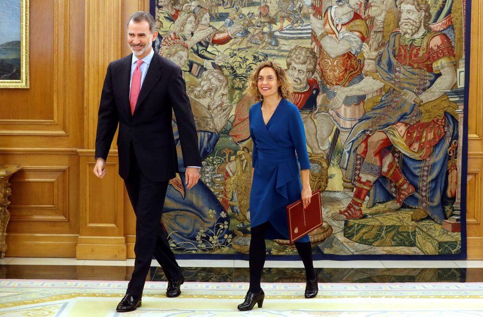 Foto: El Rey recibe a la presidenta del Congreso, Meritxell Batet, este 22 de mayo en la Zarzuela. (EFE)