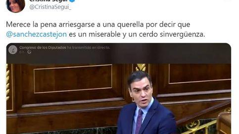 Fiscalía archiva la denuncia del PSOE por injurias y odio contra Cristina Seguí