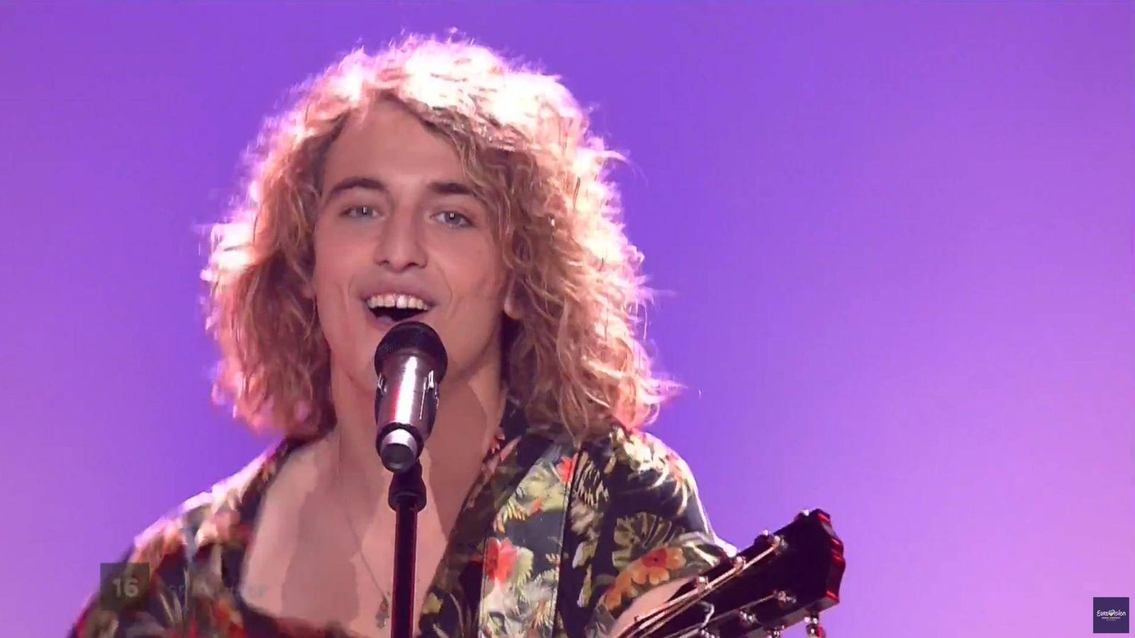 Foto: Manel Navarro en su actuación en Kiev, Eurovisión 2017.